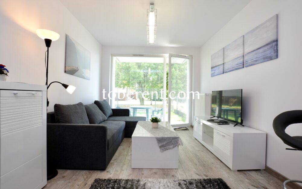 Na wynajem 2-pokojowe mieszkanie z ogródkiem 800 m od PKM Gdańsk-Osowa